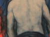 """Male Nude Back in  Leather Pants""; 8x10""original  painting by NYC artist James  Thacker; framed, New York  boys of Leather"